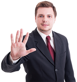 250px business man with five fingers